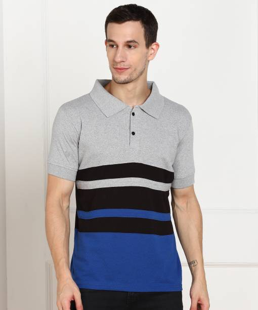 Flinck Color Block Men Polo Neck Multicolor T-Shirt