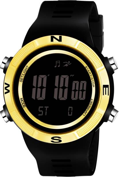 LAMKEI LK-12 Digital Watch For Men - Premium Imported Casual Sporty Display Day and Date Function Black Dial Black Silicon Strap Digital Watch for men and boys Digital Watch  - For Men