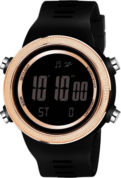 LAMKEI LK-11 Digital Watch For Men - Premium Imported Casual Sporty Display Day and Date Function Black Dial Black Silicon Strap Digital Watch for men and boys Digital Watch  - For Men
