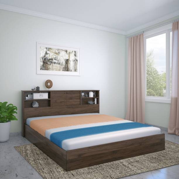@Home by nilkamal GUNNER Engineered Wood Queen Box Bed