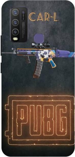 Snapcrowd Back Cover for VIVO Y30 Pubg Scra-l Gun back cover