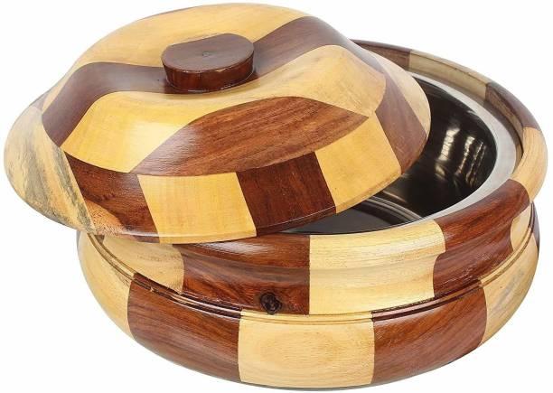 roce Roce Sheesham Wooden Chapati Box/Roti Box Container Serving Casserole Hotpot Thermoware Casserole