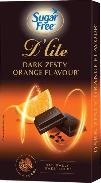 Sugar Free D'lite Zesty Orange Flavour Dark Chocolate Bars