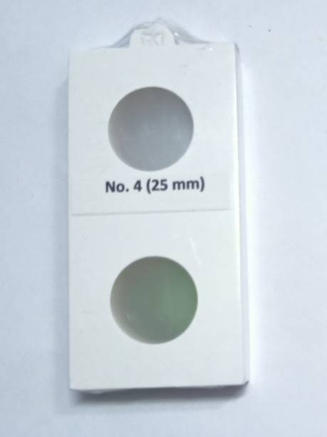 rci Coin Holders 2 x 2 50 Pieces Size No. 4 Holders (White, 25mm) Coin Bank