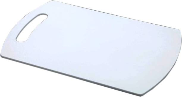 Zmeet Fruit & Vegetable Chopping Or Cutting Board Plastic Cutting Board ( White ) Plastic Cutting Board