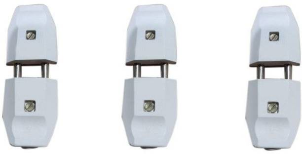ROSHANI MARKETING 2 PIN MALE -FEMALE TOP PLUG 6 AMP Two Pin Plug (White) (Pack of 3) 2 PIN MALE -FEMALE TOP PLUG 6 AMP (Pack of 3) Two Pin Plug