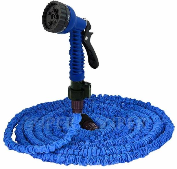 JPS 50 Ft Expandable Magic Hose Pipe for Garden, Car, Bike, Wash with 7 Adjustable Modes Spray Gun and Magic Flexible Water Hose Plastic Hoses Pipe For Watering Plants Washing Cars Hose Pipe