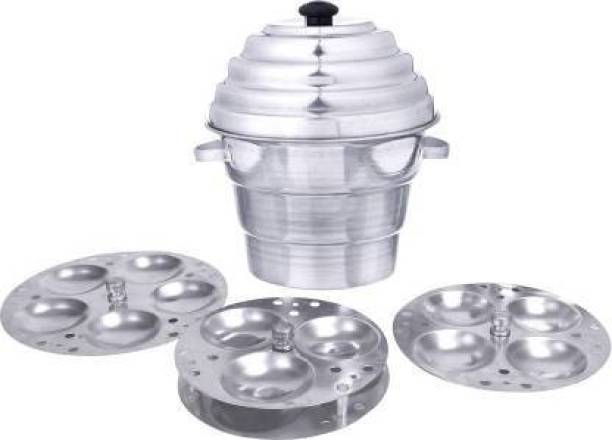 TGIA Idli Maker Cooker With 4 Plates+ 3 Plates Steamers (2 Dhokla Plate + 1 Patra Plate) , 9.5 Diameter (Idco01) Induction & Standard Idli Maker (4 Plates , 15 Idlis ) Induction & Standard Idli Maker (7 Plates , 15 Idlis ) Standard Idli Maker