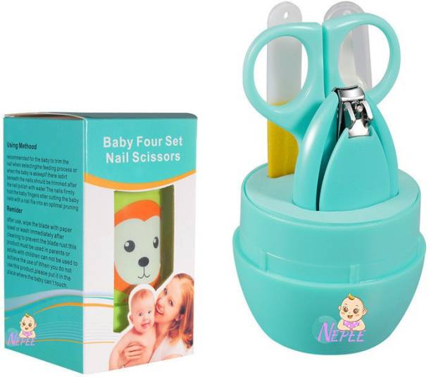 NEPEE Baby Nail Clipper Safety Cutter Toddler Infant Scissor Manicure care ( set of 4 )