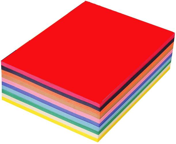 OFIXO 100Pcs/set Colorful DIY Handmade Paper Rectangle Cutting Die Papers Decorative Craft Books Ad Decoration Party Wedding Decors PLAIN A4 80 gsm, 70 gsm Coloured Paper