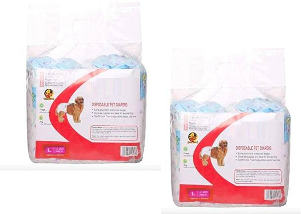 W9 W9_L-PCK2 Disposable Dog Diapers