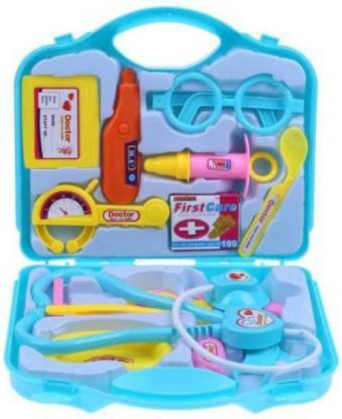 TOPUP Dr Set Suitcase Toy With Medical Accessories, Equipments For Kids (multicolor)