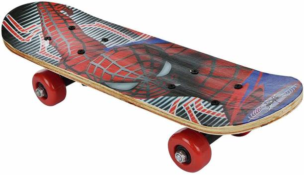 Barodian's Spiderman avanger micky - mouse Multicolor assorted cartoon character skateboard for kids [ capacity - 80 - 90 kg ] 11 inch x 14 inch Skateboard