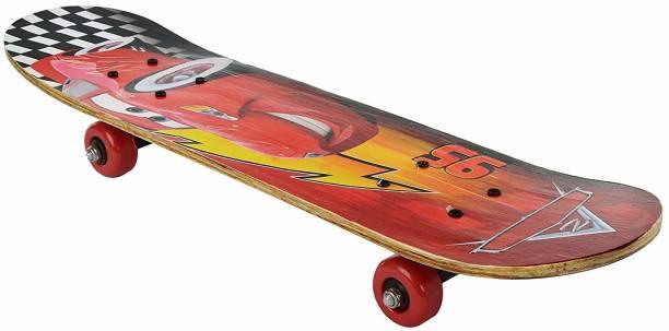JB KAKADIYA ENTERPRISE Skateboard Play in Road Smooth Wheel and Essay Travel Skateboard for boy and Girls Playboy Special Printed Skateboard 24inch x 6 inch Extremely Big Size 24 inch x 6 inch Skateboard