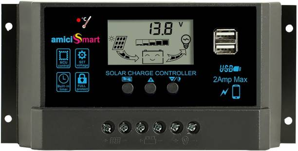 amiciSmart 40A PWM Solar Charge Controller