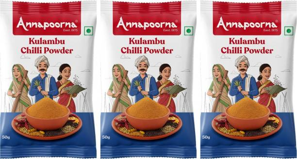Annapoorna Kulambu Chilly Powder 50gms Pack of 3