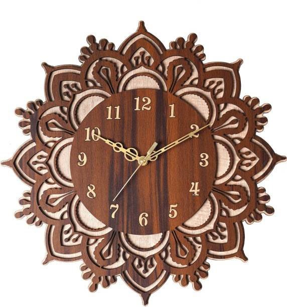 THE PRINT HUB Analog 30 cm X 30 cm Wall Clock