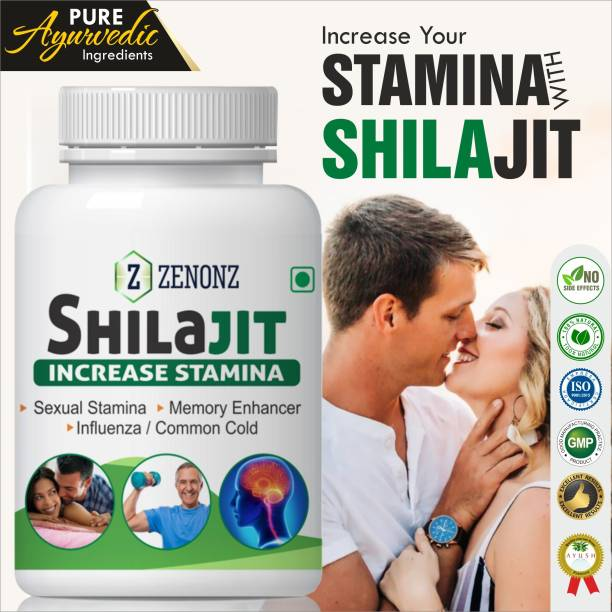 zenonz Shilajit For Strenth Stamina Sexual Wellness Capsule 100% Natural