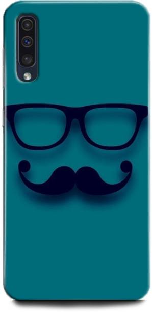 INDICRAFT Back Cover for Samsung Galaxy A50 EMOJI, HIPSTER, BEARD, YELLOW, SMILEY