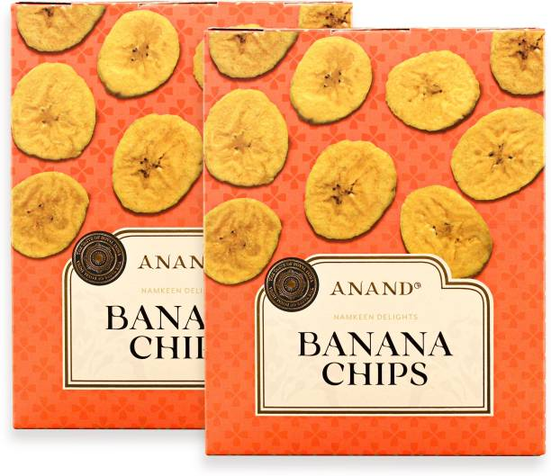 Anand Banana Chips - Healthy and Crispy Raw Banana Chips (Pack of 2) Chips