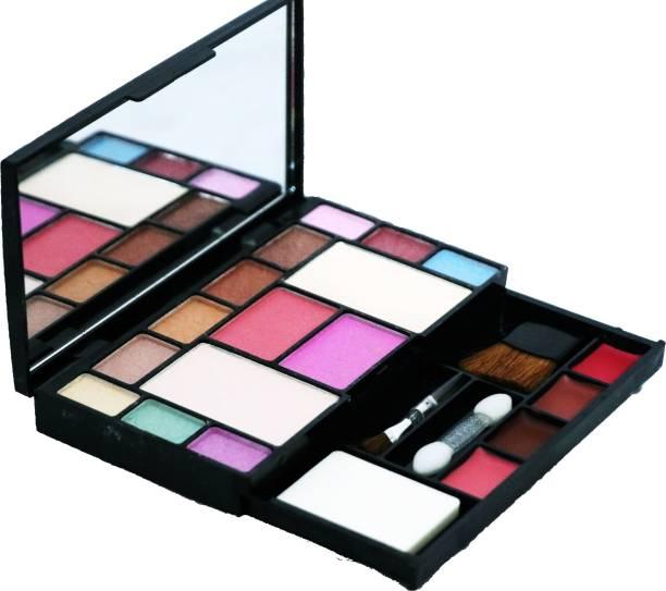 Khelni Makeup Kit 10 eyeshadow, 2 blusher, 2 compact powder,4 lipColor,