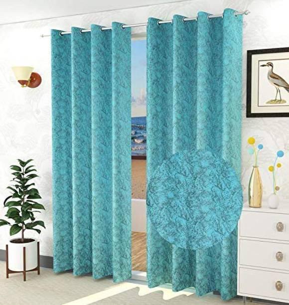PARADISE HOME DECOR 213 cm (7 ft) Velvet Door Curtain (Pack Of 2)
