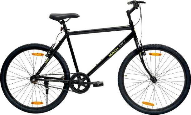 Mach City IBike Single Speed Black 26 inch 26 T Road Cycle
