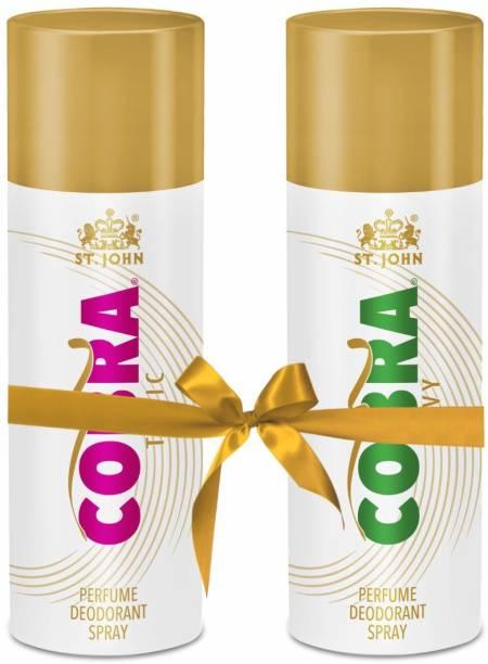 ST-JOHN Cobra Deo toxic 150 ml + Cobra Deo Envy 150 ml Perfume Body Spray  -  For Men & Women