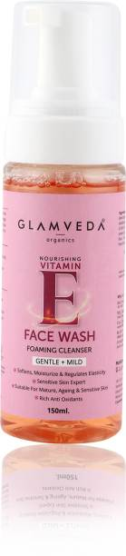 GLAMVEDA VITAMIN E NOURSHING FOAMING FACE WASH |150 ML | PARABEN FREE Face Wash