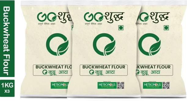 Goshudh Premium Quality Kuttu Atta (Buckwheat Flour)-1Kg
