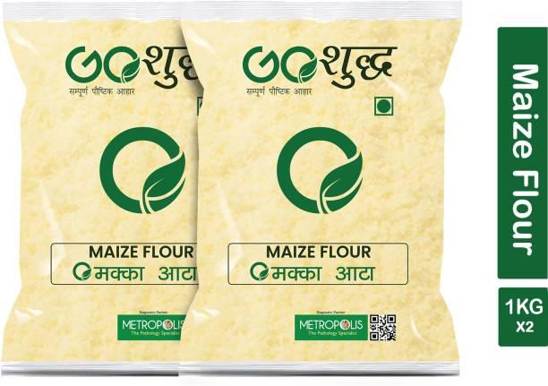 Goshudh Premium Quality Makka Atta (Maize Flour)-1Kg