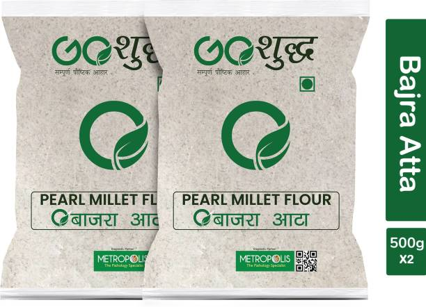 Goshudh Premium Quality Bajra Atta (Pearl Millet Flour)-500gm
