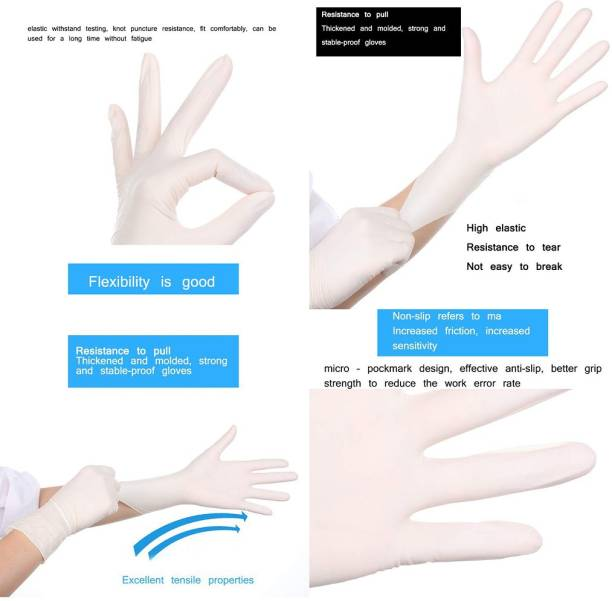 RBGIIT RBSM20A13 Disposable Latex Powder Free Surgical Gloves Medical Grade Hand Protection Rubber Glove for Hospital, Clinic, Sanitary & Kitchen Latex Surgical Gloves