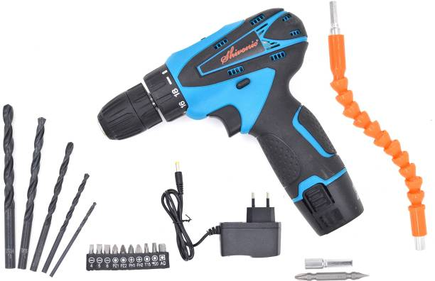 Shivonic SVC HIGHLY ADVANCE ELECTRIC CORDLESS DRILL MACHINE WITH BIT/ SCREW DRIVERS SET /2 BATTERIES /CHARGER. SVC HIGHLY ADVANCE ELECTRIC CORDLESS DRILL MACHINE WITH BIT/ SCREW DRIVERS SET /2 BATTERIES /CHARGER. Pistol Grip Drill