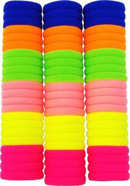 SHD COLLECTIONS Multicolor Rubber Hairbands - Set Of 66 Pcs. Rubber Rubber Band
