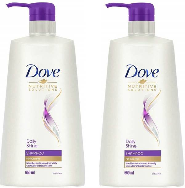 DOVE Daily Shine Shampoo, 650ml pack of 12