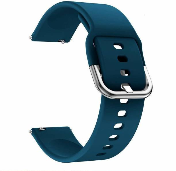 gettechgo Soft Silicone 19mm Replacement Strap Band with Metal Buckle Compatible with Noise Colorfit, Pro 2, Boat Storm Smart Watch & Watches with 19mm Lugs Smart Watch Strap