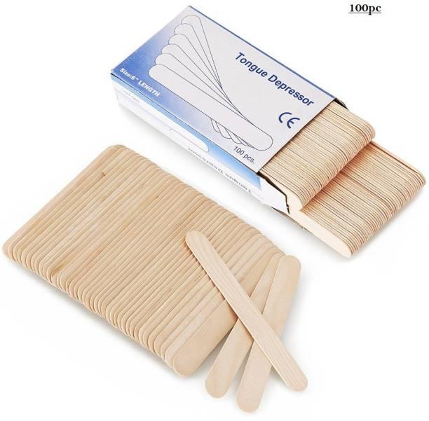 HealthEmate Non Sterile Wooden Tongue Depressor 100pc Hand Held Retractor