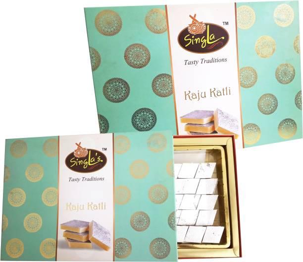 Singla Kaju Katli Sweets Burfi Combo pack of 2 each 400g ( Pack of 2* 400, 800g) Box
