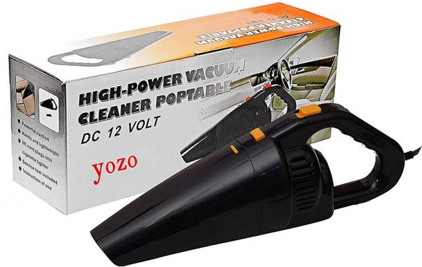 YOZO Car Vacuum Cleaner With Device Portable and High Power Plastic 12V Stronger Suction For all types Wet And Dry With Carry Bag High Power Wet & Dry Portable Car Vacuum Cleaner_(Black) Car Vacuum Cleaner