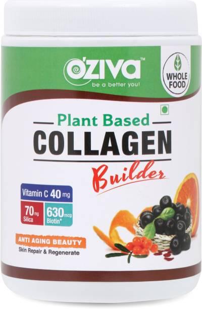 OZiva Plant Based Collagen Builder for Anti-Aging Beauty, 250g