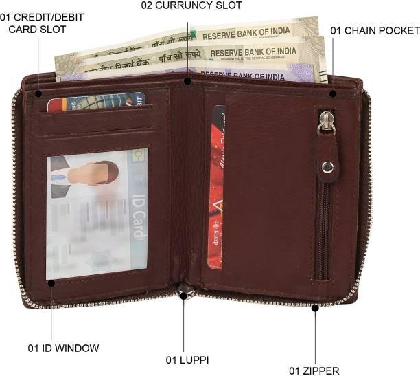 Leder Street Men Evening/Party, Travel, Formal Brown Genuine Leather Wallet