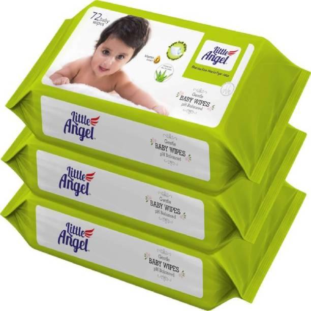 Little Angel Super Soft Baby Wipes (3 Packs of 72 Pcs)