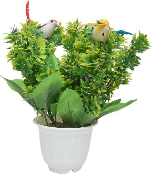 Yash Enterprises Bird Artificial Plant Bonsai Wild Artificial Plant  with Pot