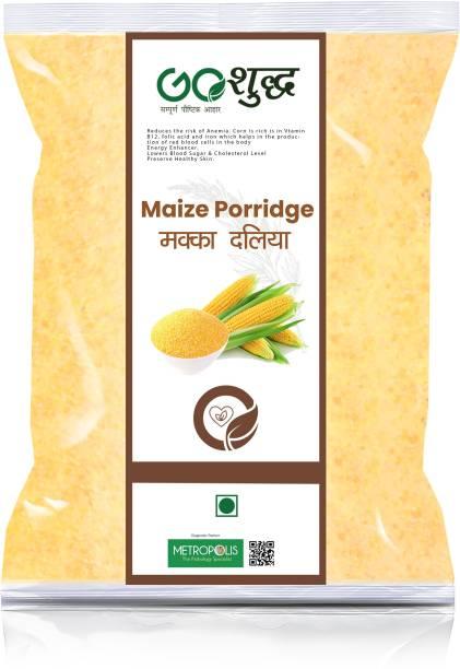 Goshudh Premium Quality Makka Daliya (Maize Porridge)-3Kg