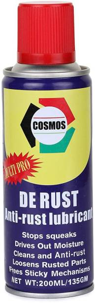 Cosmos De-Rust Anti-Rust Lubricant Spray | Multipurpose Maintenance Lubricant Spray for Household, Work Place and Industrial Usage- 200ml (Pack of 1) Degreasing Spray