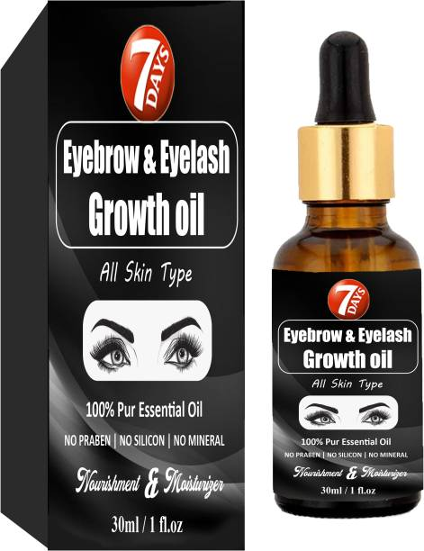 7 Days Eyebrow & Eyelash Growth Oil For Women - Strength with Pure Natural Ingredient 30 ml