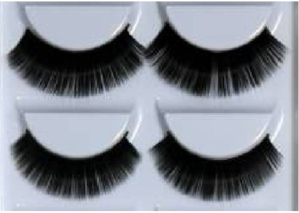avnish Beauty Makeup Handmade Messy Cross Style False Eyelashes (Pack of 2)