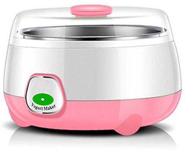 KeepCart Electric Automatic Yogurt Maker Stainless Steel Container with Lid Kitchen Appliance Yogurt Maker (Multi colour) Food Steamer