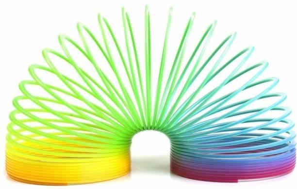 Happie Shopping Magic Slinky Spring Toy - (Multi-Colour) Magic Spring Gag Toy